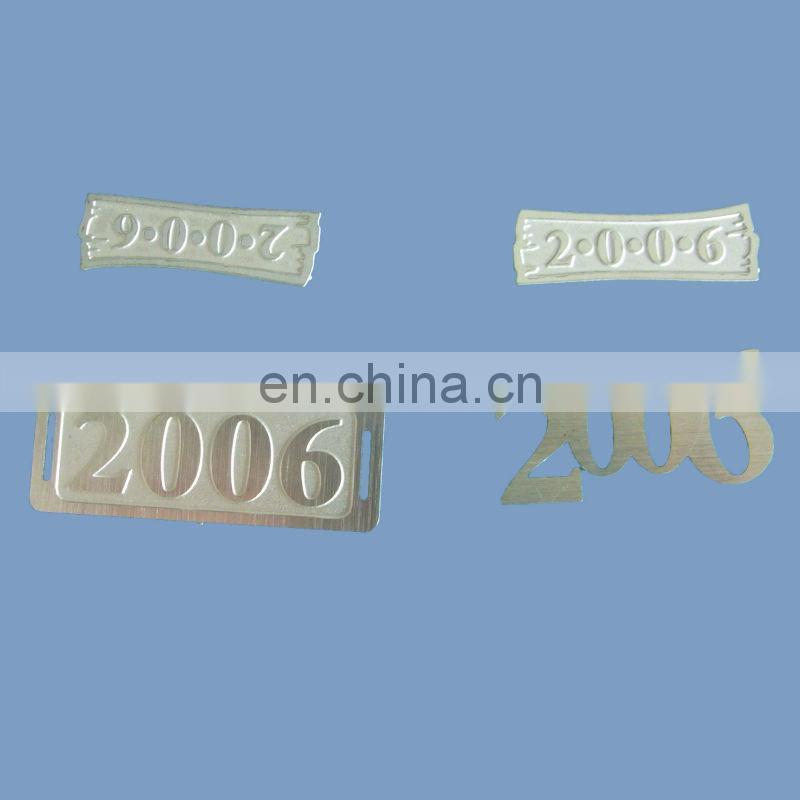 Custom stainless steel metal logo plate for handbag