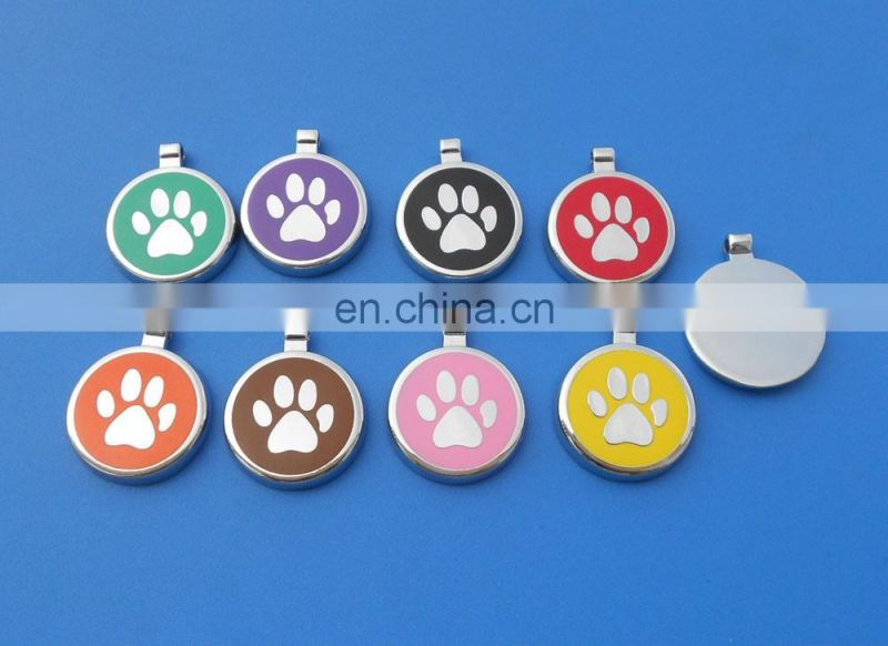 Pet Dog Cat Tag Identification paw Shape Charm Pet Tags DIY Dog Tags