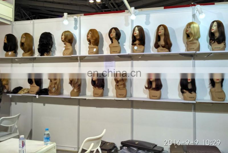 Wholesale high quality silk top lace front wig brazilian human hair jewish wig kosher wigs