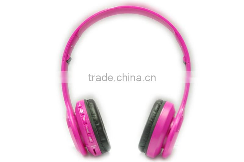 sexy pink girls stereo sound low price bluetooth headset for wholesale ,customise brand