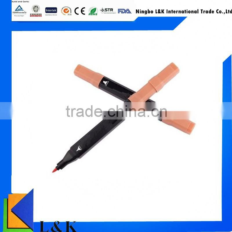 double head multi color pen/permanent waterproof marker pen 12 color/24 color
