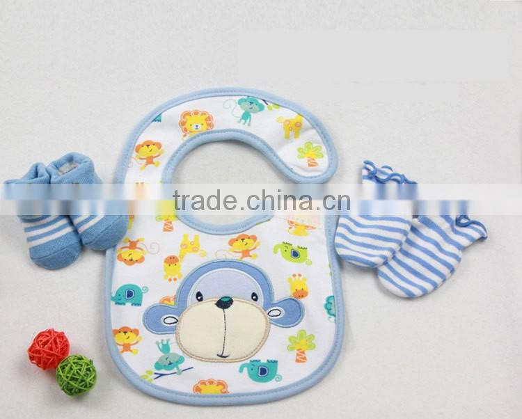 Factory Direct Sales baby hat bib Baby gift set newborn