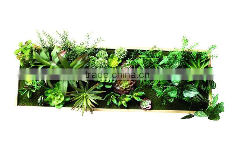 Home garden decorative Artificial Green Plant Wall Hanging photo socket Frames ZWQK06 102