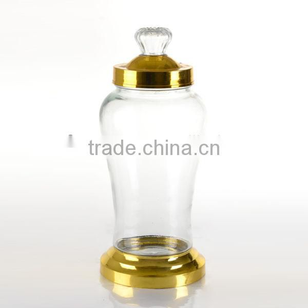 3L 3.8L 5.6L Ginseng Wine Bottle with Metal Rack, Wine Glass Bottle