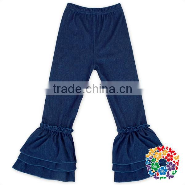 790a5be28 New Style Children Ruffle Pants Baby Girl Stretch Pants New Design Girls  Jeans Denim Ruffle Pants