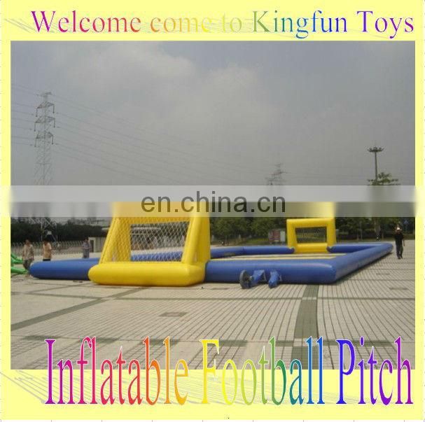 Ourtdoor Inflatable human football sport/inflatable foosball court