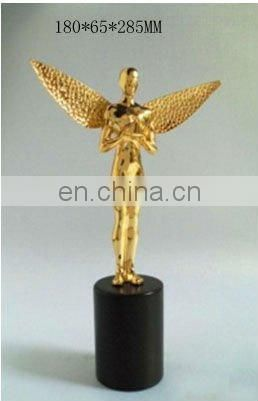 metal angel figurine holding star for home decoration