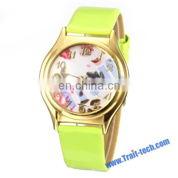 Fashion New Arrival Women Wrist Watch Olive Flower Design High Quality Women Wrist Watch