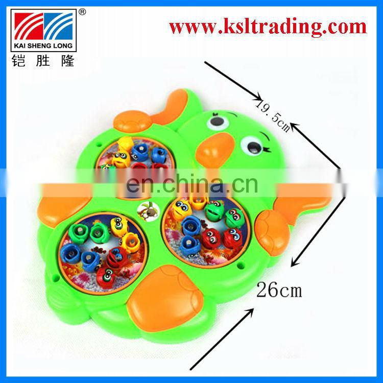 battery operated kids plastic music fishing game