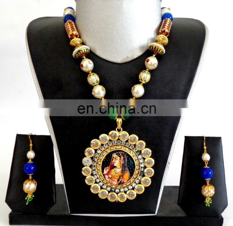 Wholesale Navratri Set-Navratri Banjara necklace set- Indian vintage Navratri fashion jewellery