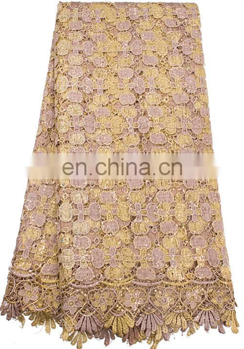 High quality African chemical lace embroidery fabric