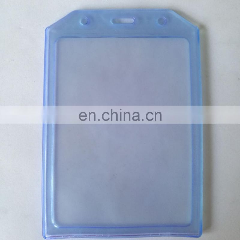 Thick soft pvc transparent card holder