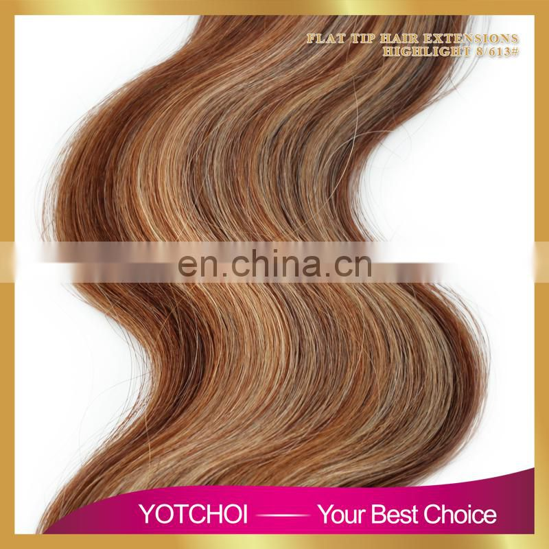 Factory price aliepress hair Russian remy hair extension Russian body wave pre tip hair