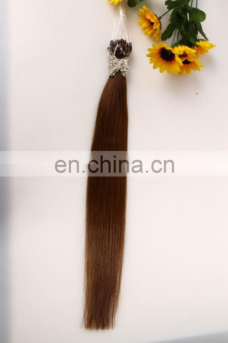 100% Natural Wholesale Hot Selling 8A 7A Grade Indian Remy Micro Loop Ring Hair Extension