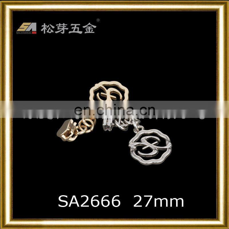 SA2666 alloy zipper accessories for garment and handbag