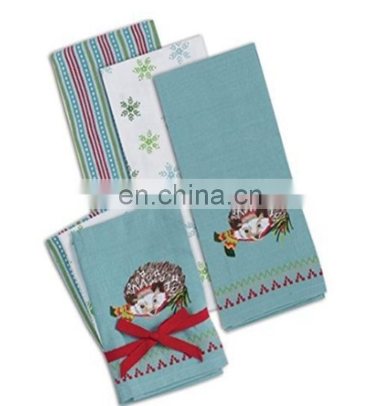 100% cotton new products art portfolio cotton tea towel