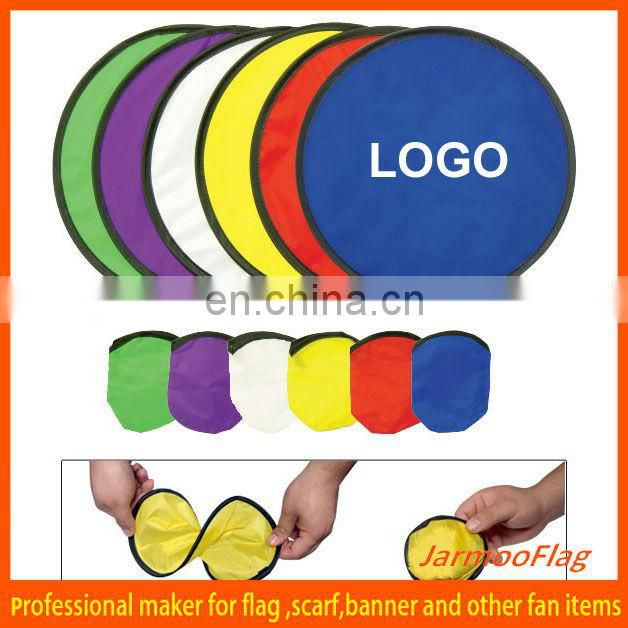 2015 printed foldable nylon flying disk