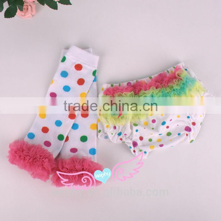 New Baby Ruffle Bloomer PP Pants Kids Girl Diaper Cover Pant Skirt Factory direct sell with warmer leg Image
