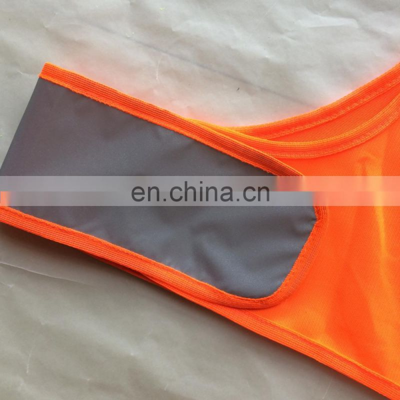 running safety vest reflective TC fabric