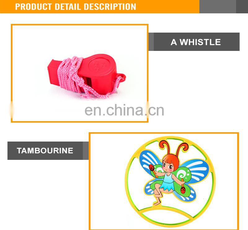 Interesting baby plastic toy timbrel musical toys mini tambourine
