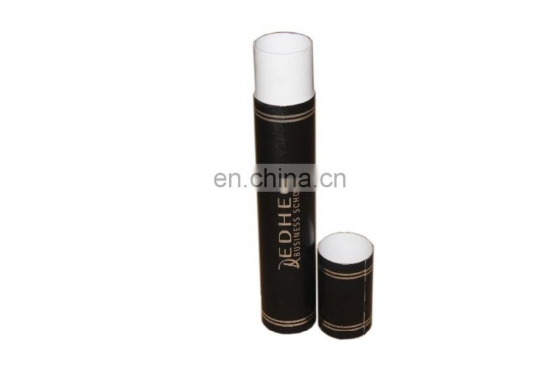 Leather diploma tube for graduation certificate