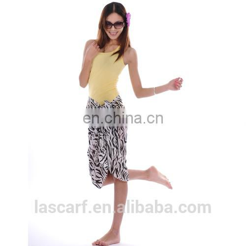 classical polyester zebra printing pareo