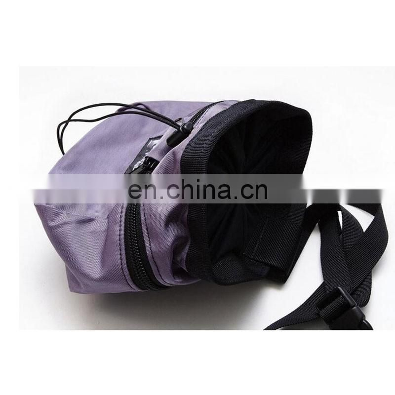 hiking climbing chalk pouch bag with belt polyester
