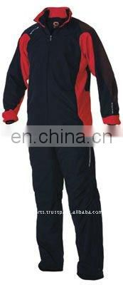 Blue polyester jogging suit