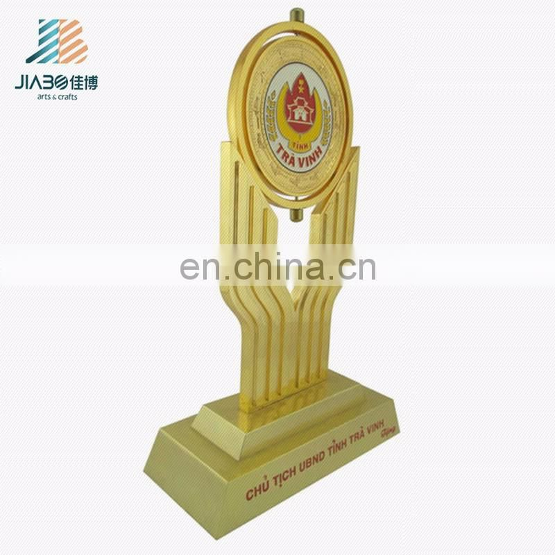 Personalized Antique gold plated metal trophy For Sports