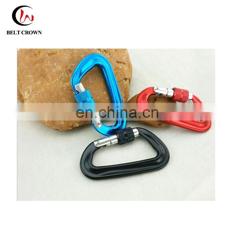 High Quality Aircraft Aluminum Screw Lock Climbing carabiner