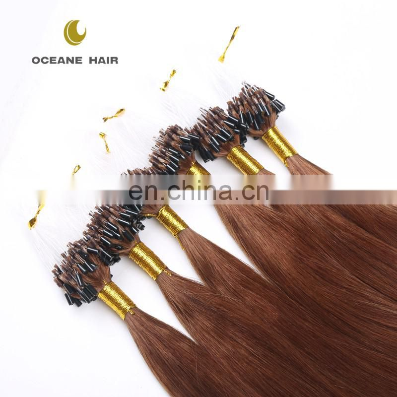 double drawn human hair Indian cheap 2g micro loop hair Keratin hair