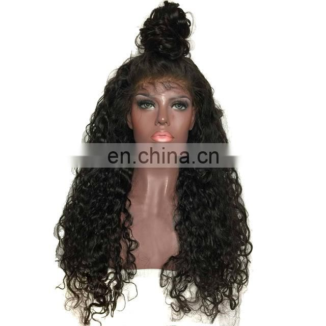 Aliexpress hair preplucked Full lace wig remy hair hair wig