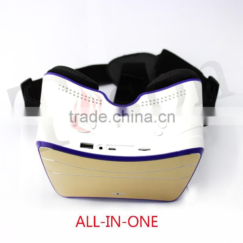 3d vr box new trend all in one 3d glasses for blue film video open sex video with wifi,bluetooth,tf card ,personal cinema Image