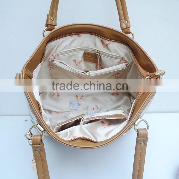 35b9c13f3c ... 2016 Alibaba express china Patchwork Women s Handbags one Shoulder  Cross-body Bag Embossed Genuine Leather ...