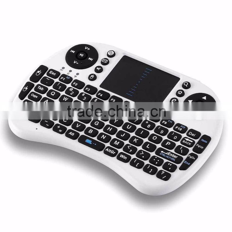 2.4GHz Wireless Mini Keyboard Mouse Touchpad for PC Android TV BOX HTPC White Keyboard