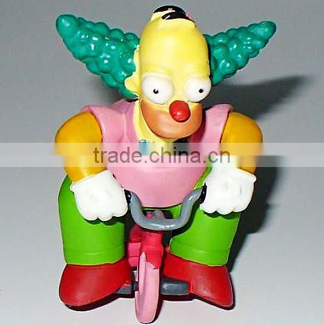 custom plastic clown figurines injection molded,custom design figurines clown plastic injection