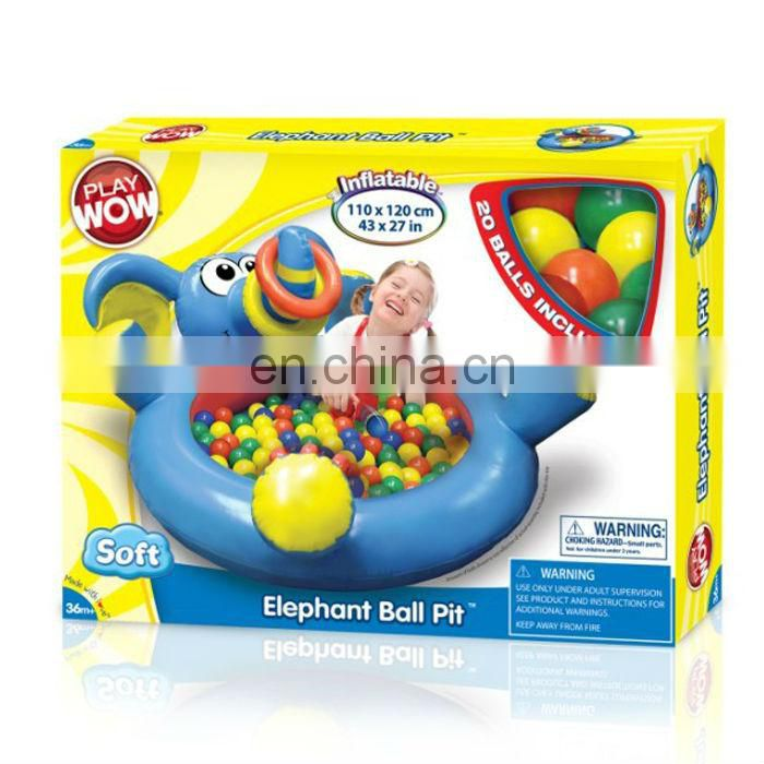 inflatable children elephant ball pit