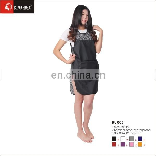 best price high quality fancy polyester salon apron custom logo