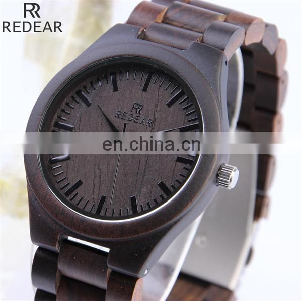 Hot high quality mens watch genuine leather watch wooden watch
