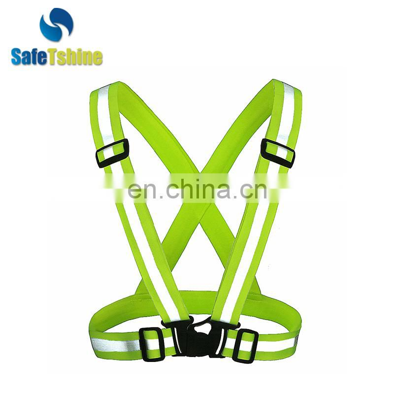 High visibility reflective safety belt