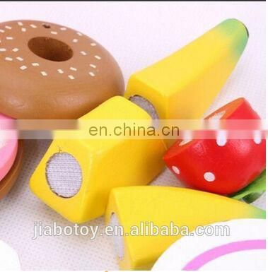 dessert cake food toy for kids Children's simulation of wooden tableware toys