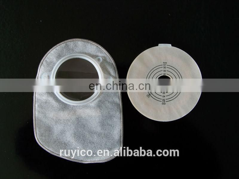 one system open disposable colostomy bag for medical
