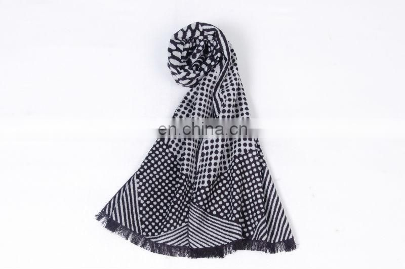 Winter men's woven scarf