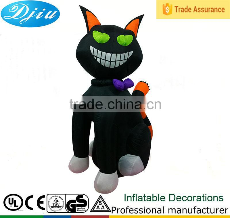 DJ-XT-119 Inflatable toys inflatable animal cat props bar decoration inflatable cat cartoon black cat