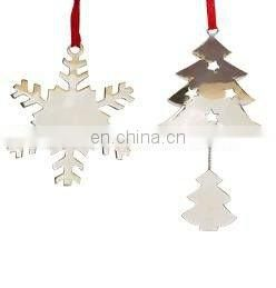 Christmas OUTDOOR WHITE Snowflake Ornaments