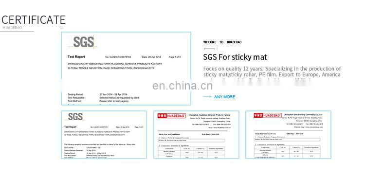 SGS Blue Reusable 30 Sheets Dust Removal Silicon Sticky Roller