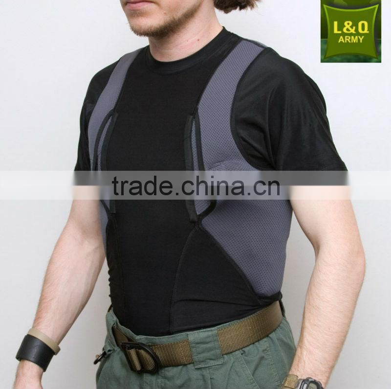 black polyester army Holster Shirt