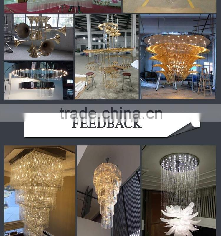New design flower shaped led crystal ceiling lighting