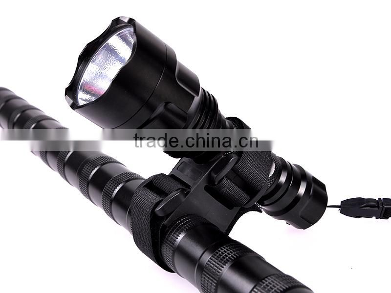 High quality Plastic universal Flashlight Laser mount Adjustable Flexible Bike Light Mount