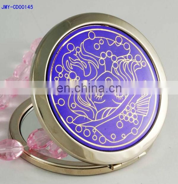 goldfish purple tone mini pocket makeup mirror